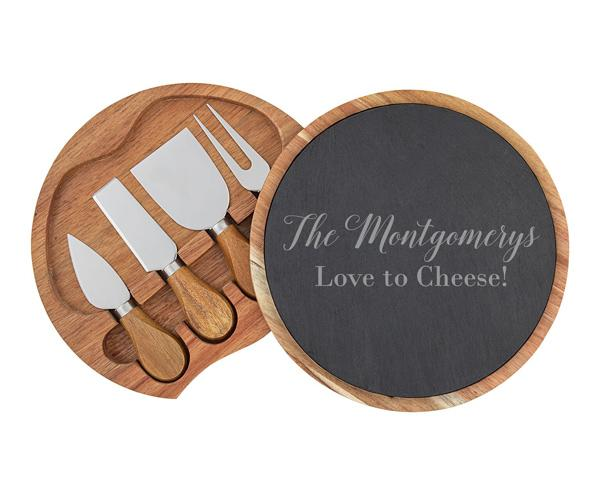 Cheese board sets with utensils