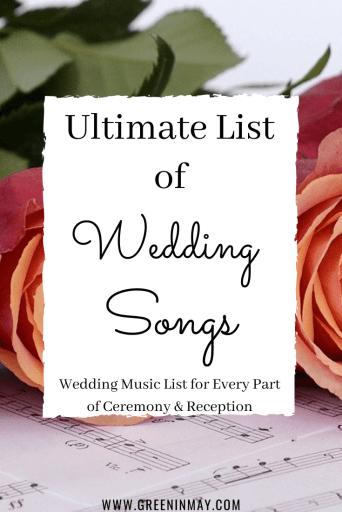 Ultimate list of wedding music