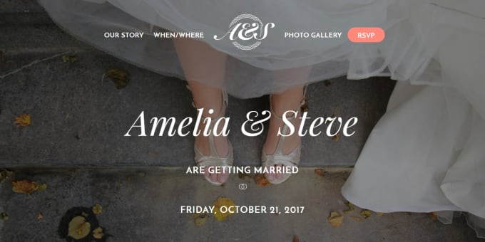 Professional wedding website from Fiverr