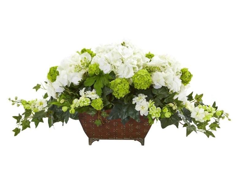 Hydrangea and Ivy flower arrangements