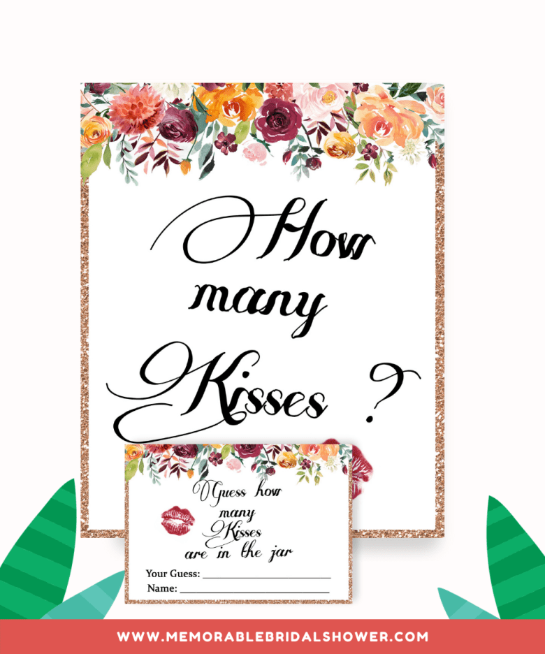How many kisses sign and card from greeninmay.com