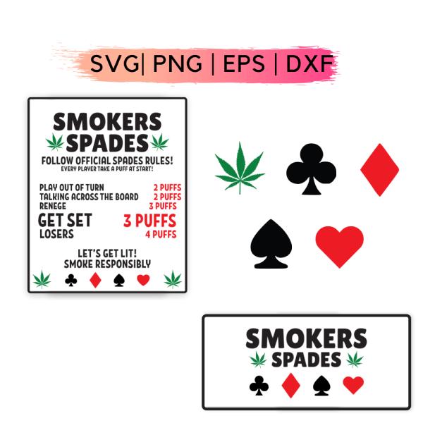 Smokers Spades SVG