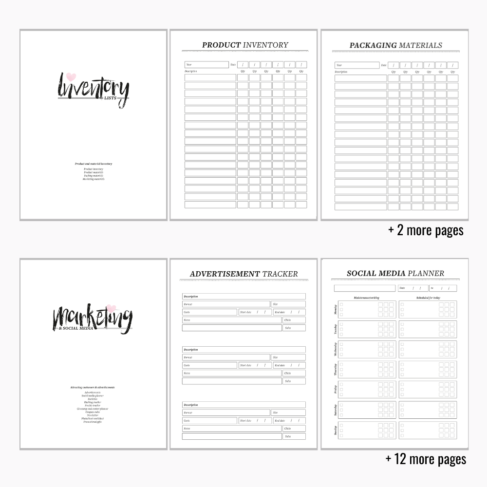 Printable Business Planning Binder