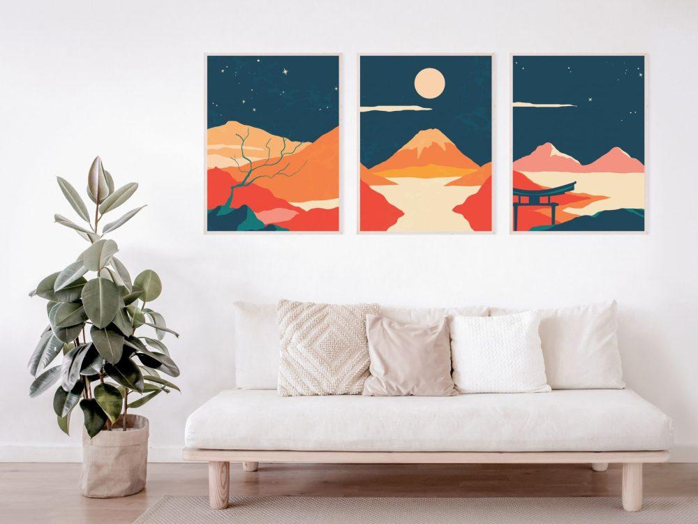 Abstract Japanese Art Prints