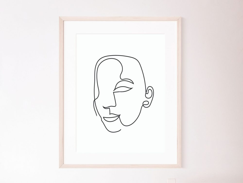 Faces Line Art BW