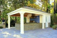15 x 22 ft. Custom Pool House & Cabana, with Bathroom ...