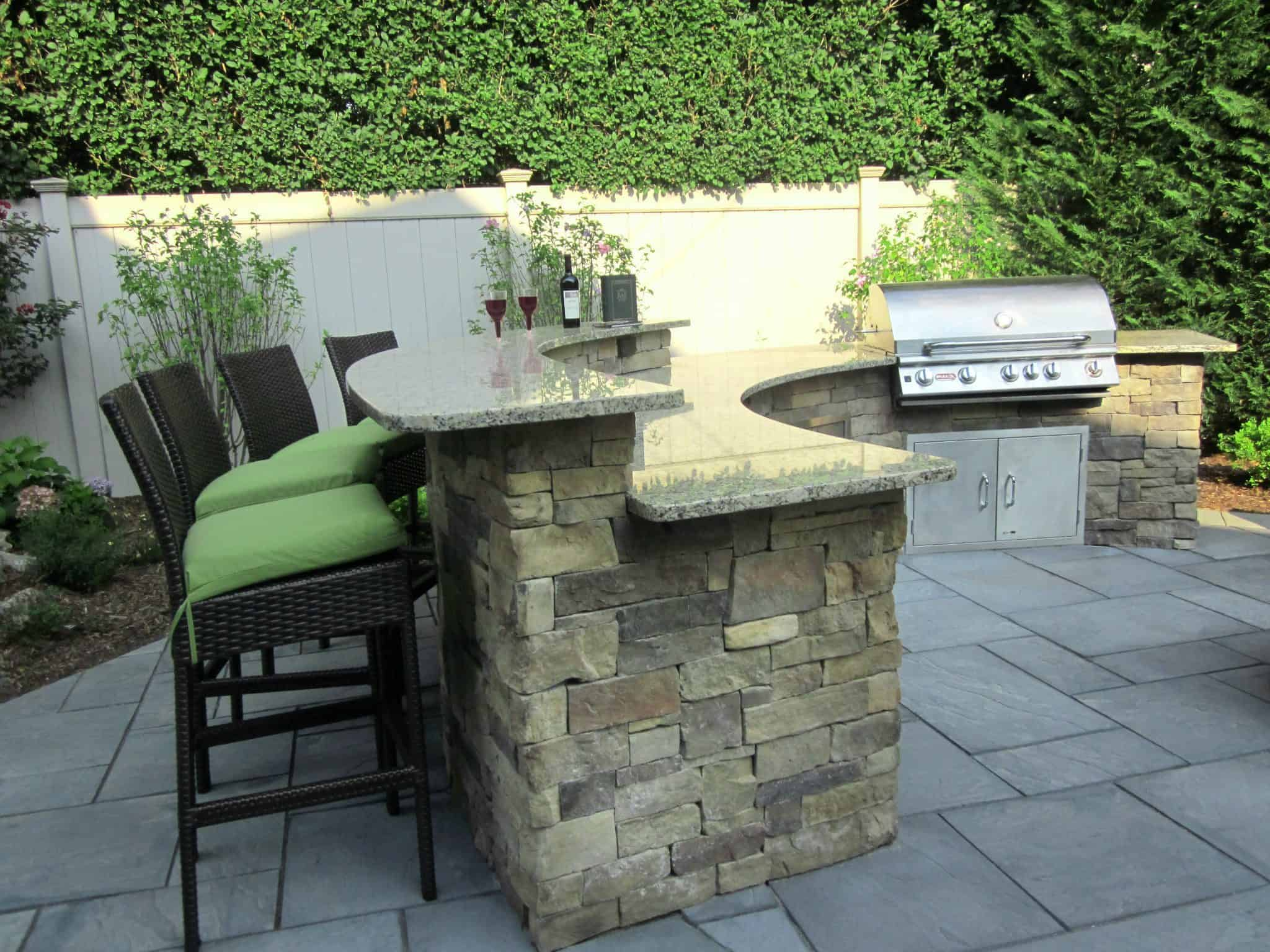 photos of outdoor kitchens and bars round glass kitchen tables long island