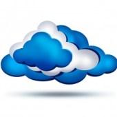Cloud computing - illustration type clip-art