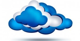Cloud computing - illustration type clip-art