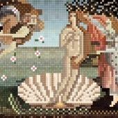 Fresque renaissance pixel numérique