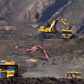 sac à dos écologique - photos d'une mine à ciel ouvert