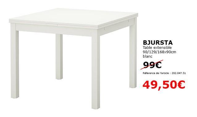 table bjursta la table extensible par