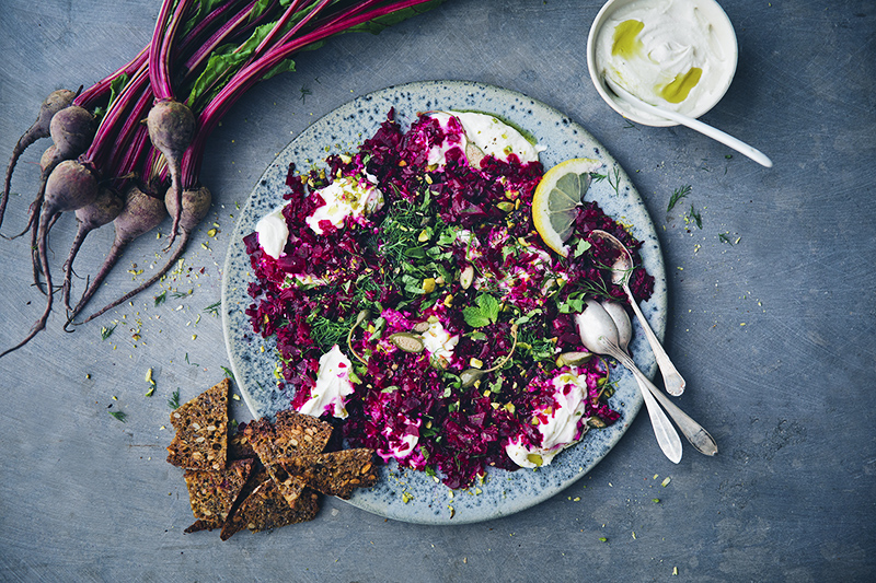 Beet Tartar with Sesame Labneh + Amsterdam