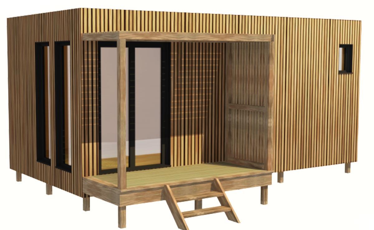 Studio De Jardin 20m2 En Bois Sans Permis De Construire Greenkub