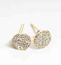 Pave Disc Stud Earrings - Greenlane Gallery Dingle