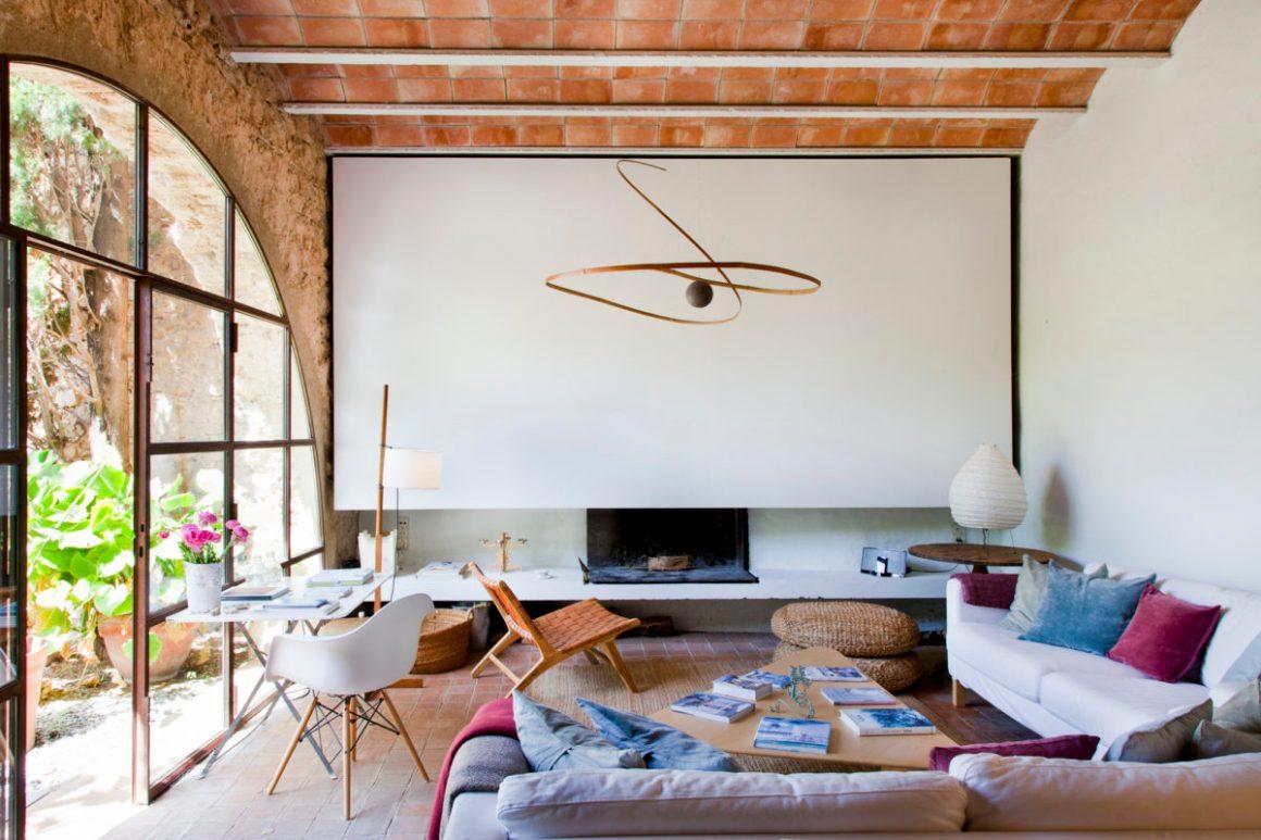 Salon de l'hôtel Les Hamaques, en Catalogne, Espagne