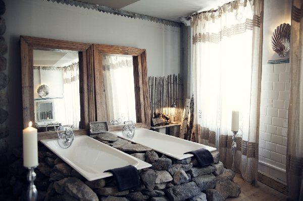 Salle de bains, L'Annexe d'Aubrac. © L'Annexe