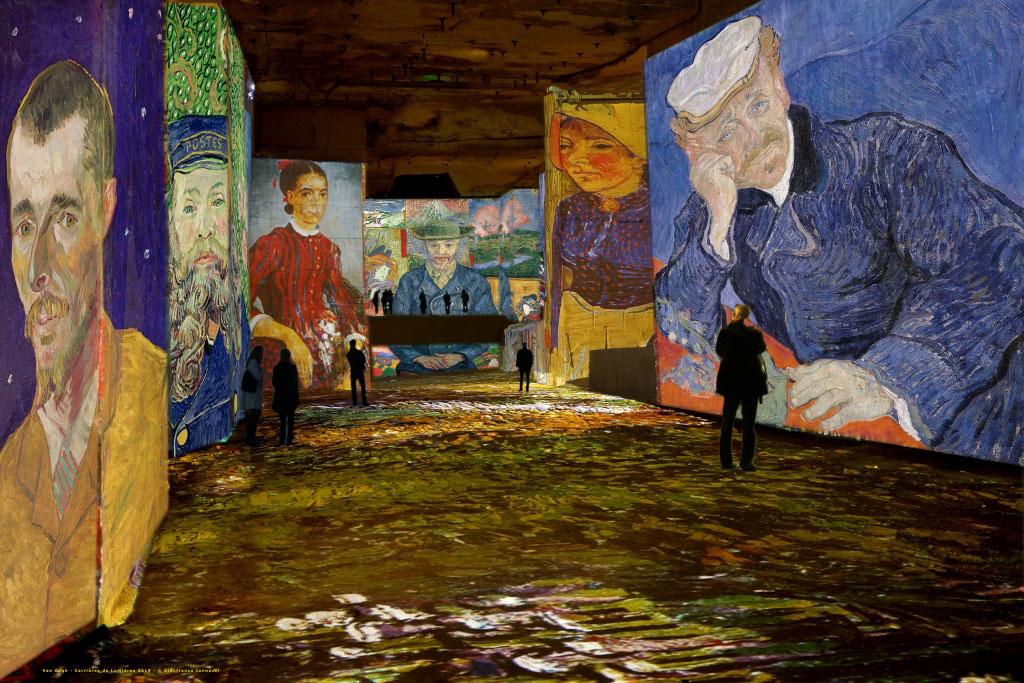 """Simulation exposition """"Van Gogh, La nuit étoilée"""" aux Carrières de Lumières"""