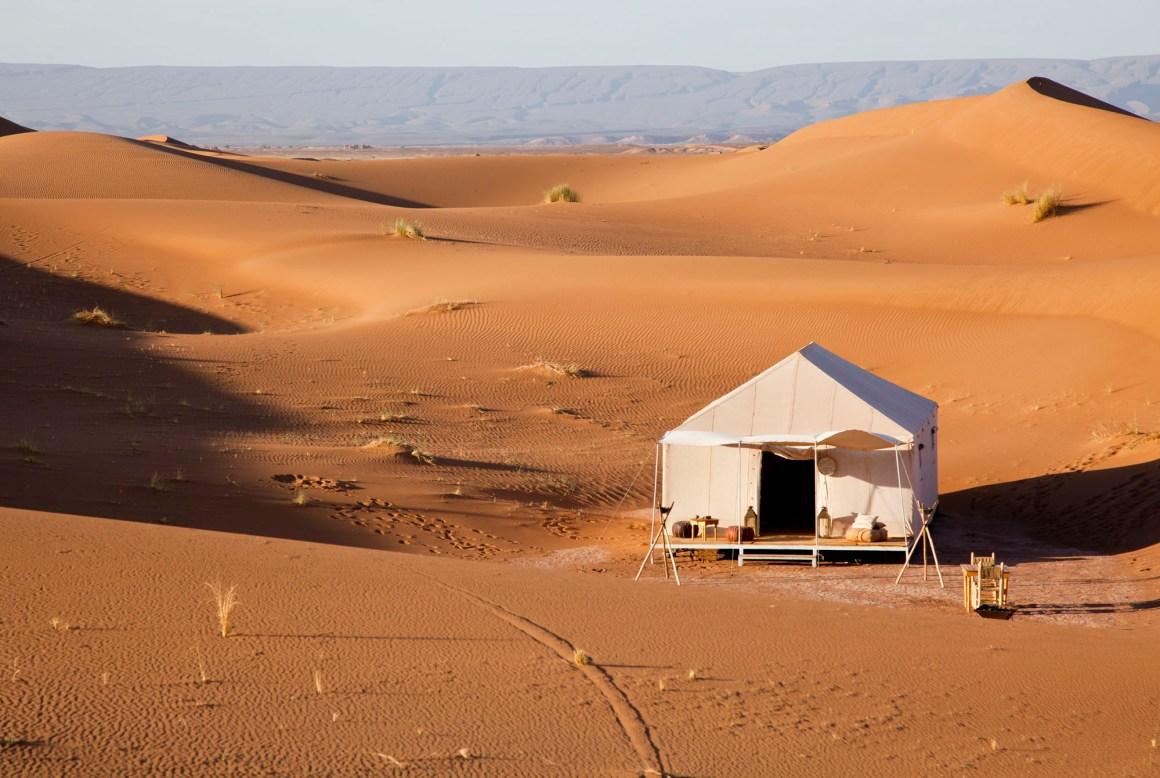 La tente, Umnya Dune Camp, Maroc. © Elodie Rothan