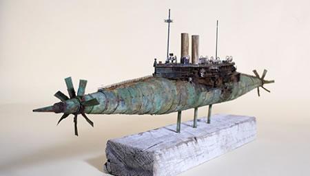 John Taylor uses scrap materials to build imperfect ship