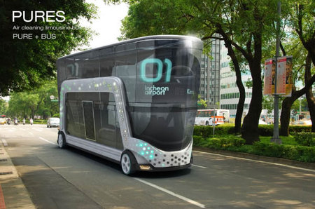 PURES Concept Solar Powered Electric Buses Purify Air As