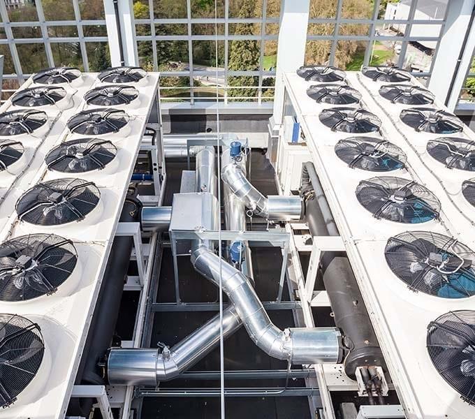 Commercial HVAC System Rooftop Unit Set