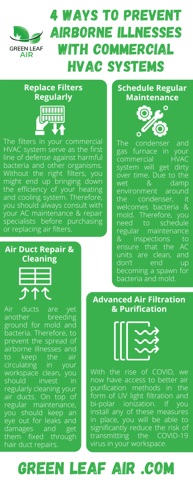 4 Ways to Prevent Airborne Illnesses with Commercial HVAC Systems