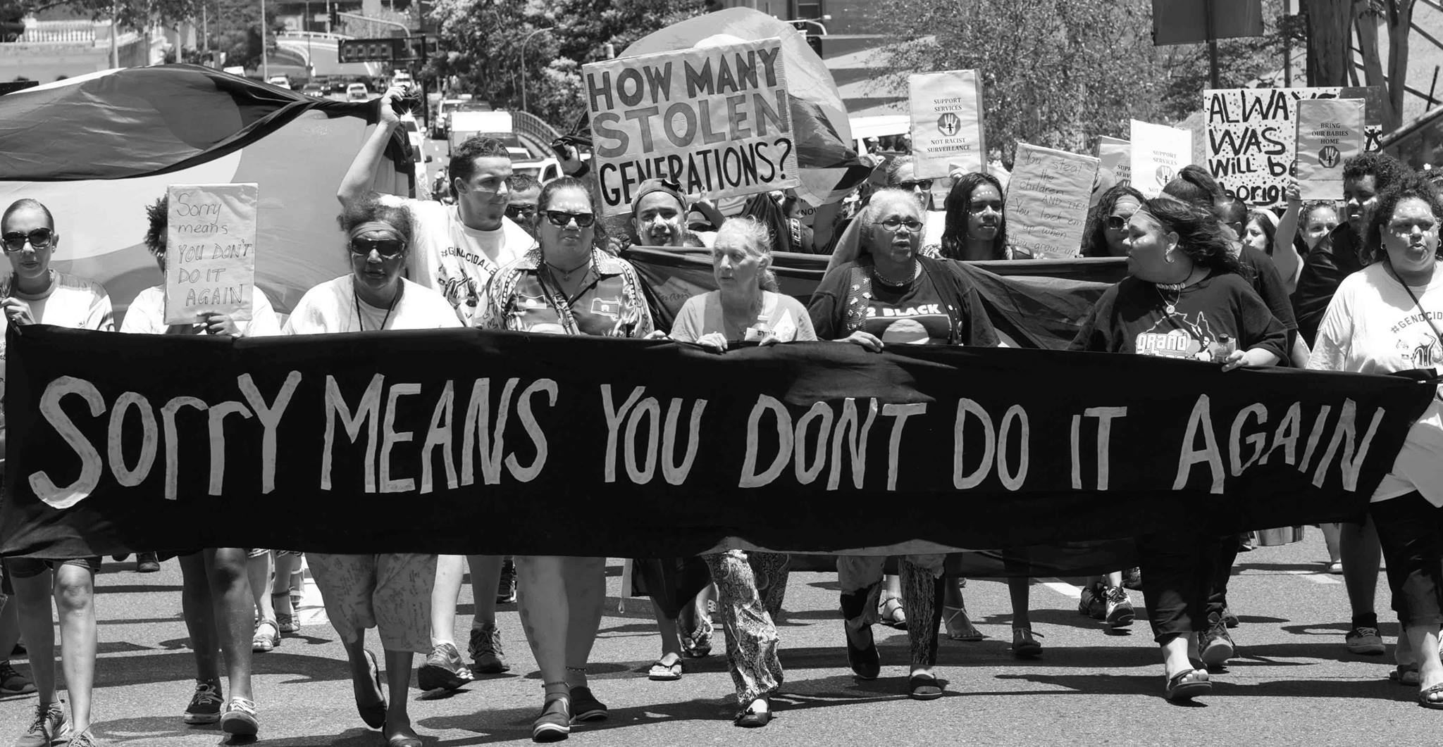 Protest To Stop Continuing Stolen Generations