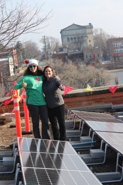 Solar Sherpas Michelle Knox, WindSolarUSA and Rebekah Axtell, GreenLife Media Group.