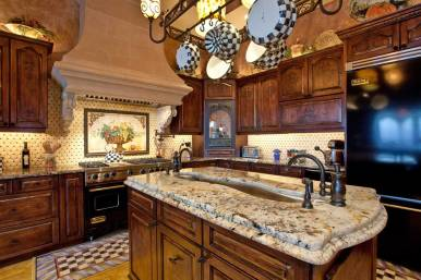 Intricate finishes and custom wood cabinets in this Bradeton luxury home.