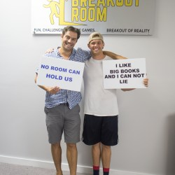 Foz and Max from Wilmington's z107.5 radio station escaped the escape room with 3 minutes to spare