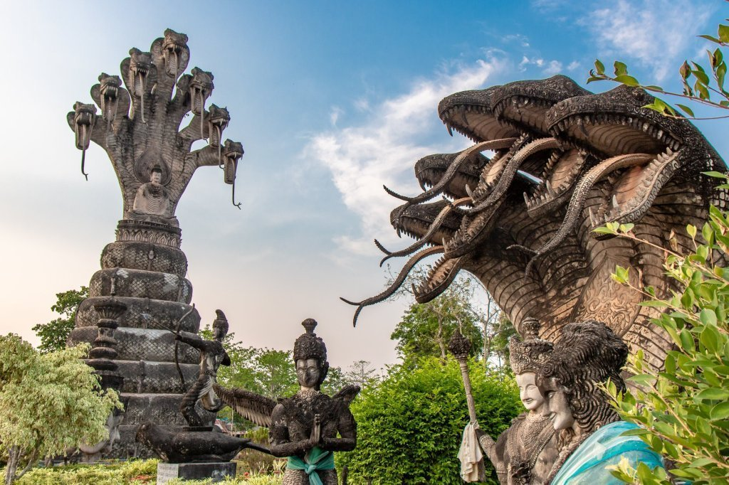 Buddah park in Nong Khai, Thailand