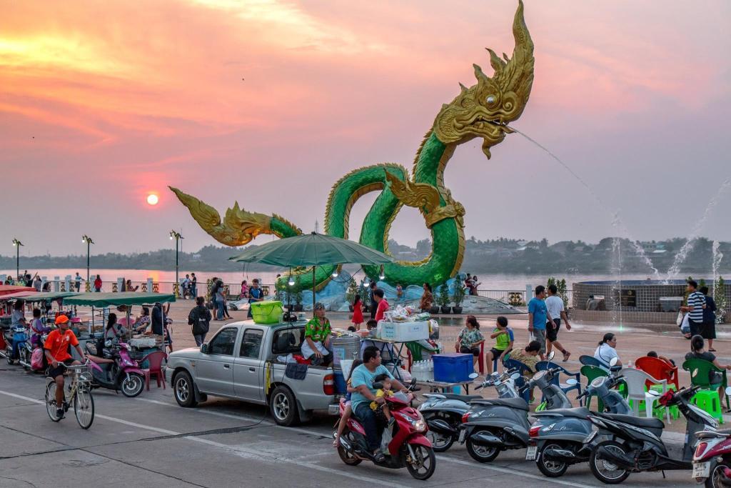 Mekong riverside in Nong Khai, Thailand