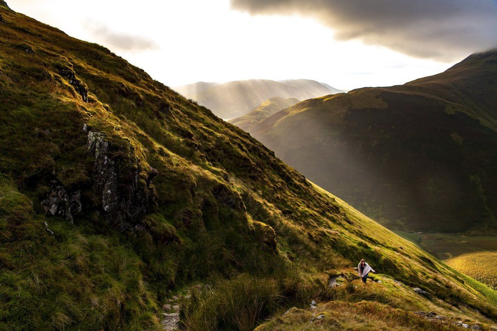 Hiking in the Lake District in Northern England
