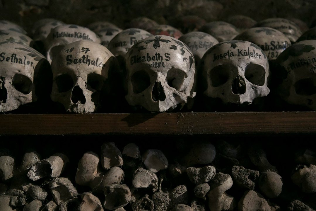 The Painted Skulls of Hallstatt in Austria
