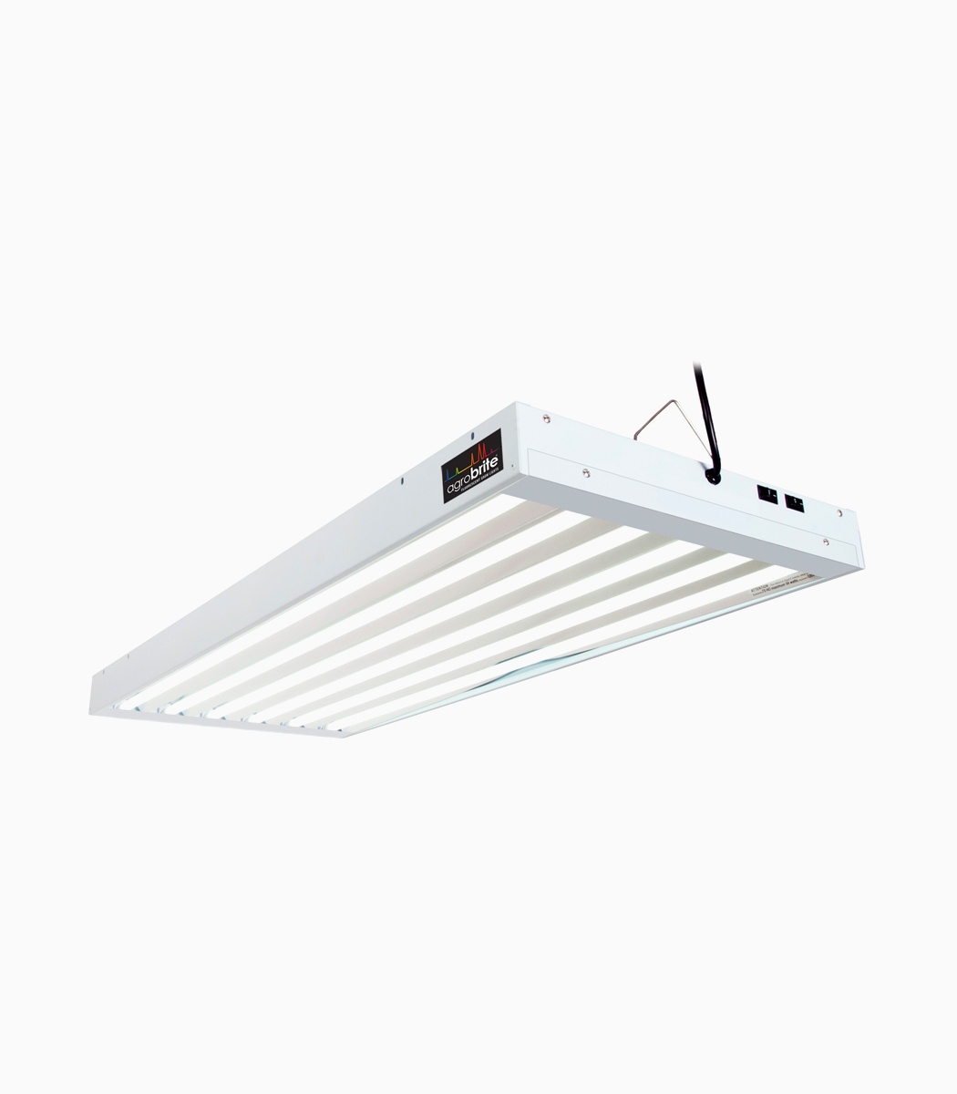 Agrobrite T5 324w 4 6 Tube Fixture With Lamps