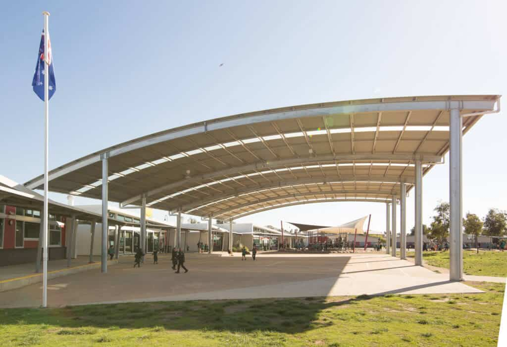 school courtyard shade structure