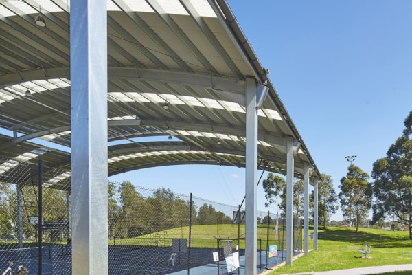 Greenline University of Western Sydney Bankstown basket ball shade structure