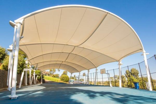 St Bernards Essendon Greenline School sports basketball court Shade Structure