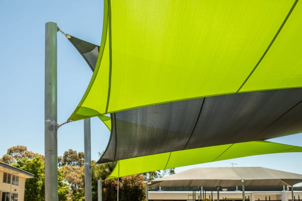 School Shade Sails with Greenline
