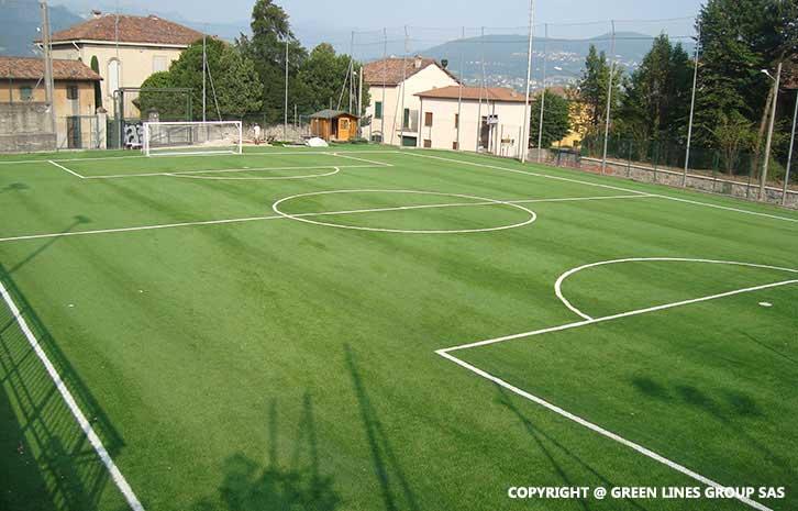 Realizzazione campo da calcio a 7 a Suello