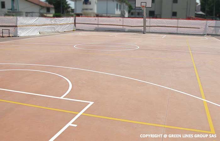 Green Lines Group: realizzazione di campi da basket