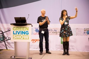 Main stage presentation at the Green Living Show