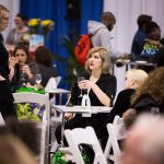 Attendees enjoying delicious food and drinks at the 2017 Green Living Show