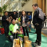Mayor John Tory visits the Tree Feature at the 2017 Green Living Show
