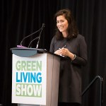 Main Stage emcee Rachel Bies at the 2017 Green Living Show