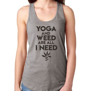 yoga and weed tank