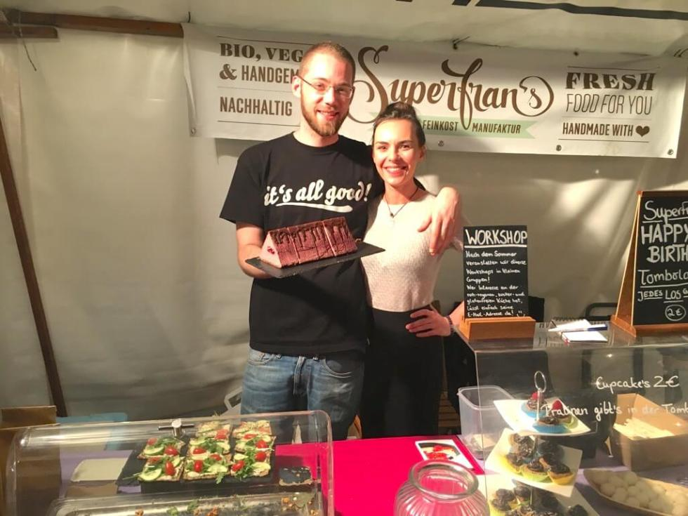 Green Market Berlin - Superfrans - healthy vegan rawfood