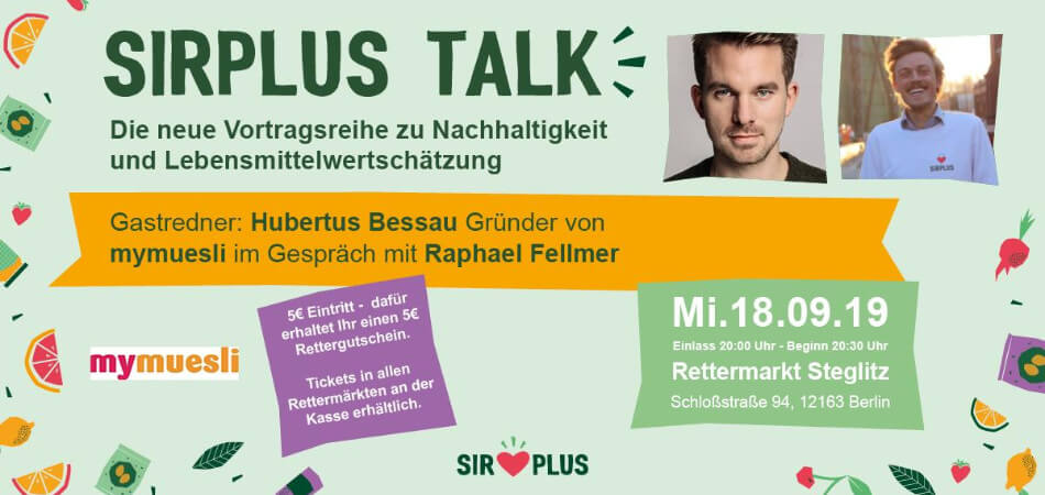 SIRPLUS TALK with Hubertus Bessau from mymuesli | GreenMe Events