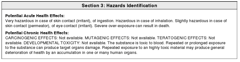Hazardous Identification